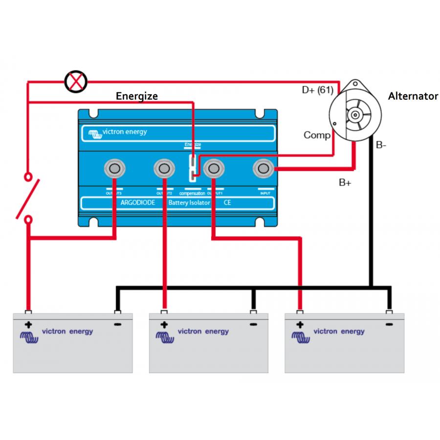 Батарейные изоляторы Victron Energy Argofet 100-2 Two batteries 100A